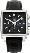 Timepieces:Wristwatch, Tag Heuer Steel Monaco Automatic Chronograph, circa 2006. ...