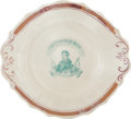 Political:3D & Other Display (pre-1896), William Henry Harrison: Beautiful China Portrait Campaign Plate. ...