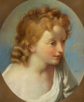 Fine Art - Painting, European:Antique  (Pre 1900), PROPERTY FROM THE WICHITA CENTER FOR THE ARTS. After JEAN-BAPTISTE GREUZE (French, 1725-1805). Portrait of a Girl...