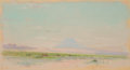 Works on Paper, FRANK REAUGH (American, 1860-1945). Untitled [Mountain Landscape with Cattle], circa 1910. Pastel on paper. 3-1/2 x 7 in...