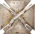 Military & Patriotic:Indian Wars, Pacific Northwest Indian Wars: Rare Silver Participant's Badge. ...