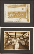 Advertising:Paper Items, Harley Davidson Motorcycles: Two Rare Early Photos. ... (Total: 2Items)