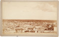 Photography:Official Photos, Important Early Albumen Photograph of El Paso, Texas by F. Parker. ...
