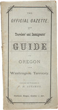 Books:Non-fiction, Oregon and Washington Territory: Scarce 1876 Travelers andImmigrants Guide. ...