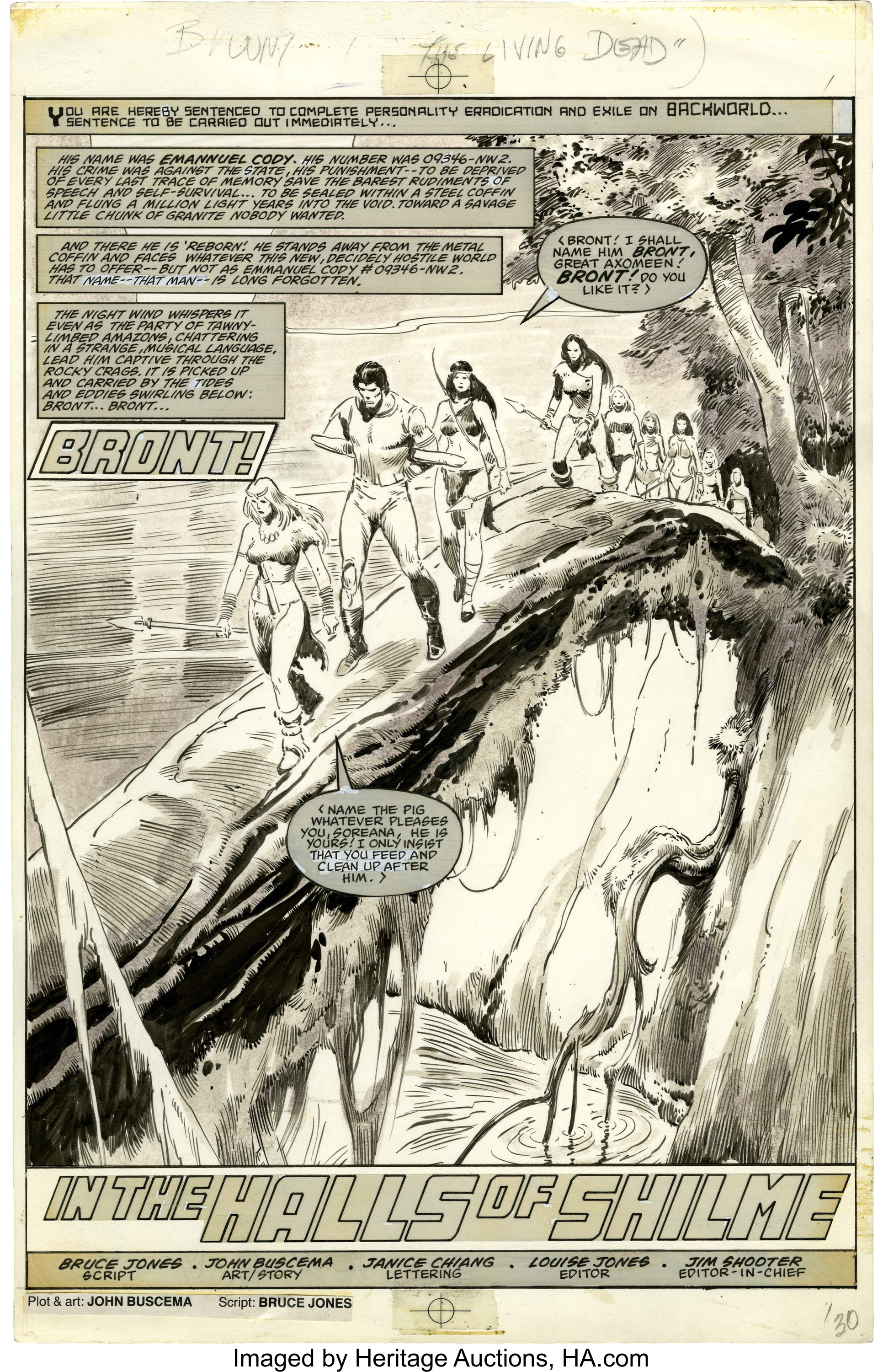 John Buscema Savage Sword of Conan #79 Splash page 1