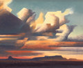 Paintings, FROM A PRIVATE GEORGIA COLLECTION. ED MELL (American, b. 1942). Sunset Landscape. Oil on canvas. 16 x 20 inches (40.6 ...