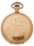 "Military & Patriotic:Indian Wars, ""Libbie"" Custer: Engraved Watch Presented to Custer's Beloved Widow by the Veterans of the 7th Cavalry...."