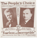 Political:Posters & Broadsides (1896-present), LaFollette & Wheeler: Scarce and Graphically Appealing 1924Jugate Poster....