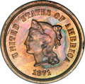 Patterns, 1871 5C Five Cent, Judd-1051, Pollock-1185, R.6, PR64 Red and BrownPCGS....