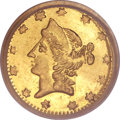 California Fractional Gold, 1864 50C Liberty Round 50 Cents, BG-1016, R.4, MS64 PCGS....