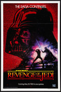 "Movie Posters:Science Fiction, Revenge of the Jedi (20th Century Fox, 1983). One Sheet (27"" X 41"")Flat-Folded Advance. Science Fiction.. ..."