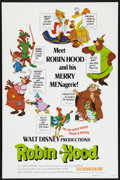 "Movie Posters:Animated, Robin Hood (Buena Vista, 1973). One Sheet (27"" X 41"") Flat-FoldedStyle A. Animated.. ..."