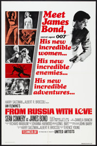 """From Russia with Love (United Artists, R-1980). One Sheet (27"""" X 40.5""""). James Bond"""
