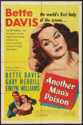 "Movie Posters:Crime, Another Man's Poison (United Artists, 1952). One Sheet (27"" X 41"").Crime.. ..."