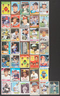 Baseball Collectibles:Others, Hall of Famers Signed Baseball Cards Lot of 36....