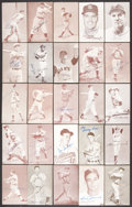 Baseball Collectibles:Others, Baseball Stars Signed Exhibit Cards Lot of 25....