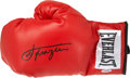 Boxing Collectibles:Autographs, Joe Frazier Signed Boxing Glove....
