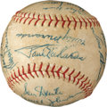 Baseball Collectibles:Balls, 1952 Chicago White Sox Team Signed Baseball....