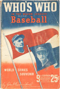 "Baseball Collectibles:Publications, 1941 Connie Mack Signed ""Who's Who In The Major LeaguesBaseball.""..."