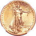High Relief Double Eagles, 1907 $20 High Relief, Flat Rim--Improperly Cleaned--NGC. AU Details....