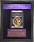"S.S.C.A. Relic Gold Medals, 1855 $50 SSCA Relic Gold Medal ""1855 Kellogg & Co.Fifty""--Double Stamp on Reverse--Gem Proof PCGS...."
