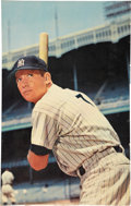 Baseball Collectibles:Others, Mickey Mantle 1962-63 Jello Advertising Poster. . ...