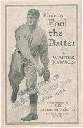 """Baseball Collectibles:Publications, Circa 1920's Walter Johnson """"How To Fool The Batter"""" Booklet...."""