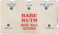 "Baseball Collectibles:Others, 1934 Babe Ruth ""Quaker"" Baseball Scorer...."