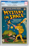 Golden Age (1938-1955):Science Fiction, Mystery in Space #8 (DC, 1952) CGC VF+ 8.5 Off-white to whitepages....