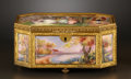 Decorative Arts, Continental:Other , A FRENCH ENAMEL JEWEL BOX . Probably Limoges, France, circa 1910.Marks: Gamel France (painted), A La Marquise deSevi...