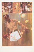 Boxing Collectibles:Autographs, Sugar Ray Robinson Signed Lithograph....