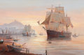 "Fine Art - Painting, European:Contemporary   (1950 to present)  , MICHAEL J. WHITEHAND (British, b. 1941). ""Sprindrift"" Off Scarborough. Oil on canvas. 20 x 30 inches (50.8 x 76.2 cm). S..."