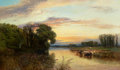 Fine Art - Painting, European:Antique  (Pre 1900), GEORGE VICAT COLE (British, 1833-1893). Pastoral Landscape.Oil on canvas. 30 x 50-1/2 inches (76.2 x 128.3 cm). Signed ...