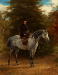 Fine Art - Painting, European:Antique  (Pre 1900), EDMUND HAVELL THE YOUNGER (British, 1819-1895). Portrait of a Rider, 1878. Oil on canvas. 44 x 34 inches (111.8 x 86.4 c...