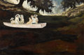 Paintings, GEORGE RODRIGUE (American, b. 1944). Across the Bayou Teche, 1971. Oil on canvas. 24 x 36 inches (61.0 x 91.4 cm). Signe...