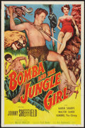 "Movie Posters:Adventure, Bomba and the Jungle Girl (Monogram, 1953). One Sheet (27"" X 41"").Adventure.. ..."