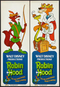 "Movie Posters:Animated, Robin Hood (Buena Vista, 1973). Mini Door Panel Set of 4 (10"""" X 29.5""""). Animated.. ... (Total: 4 Items)"