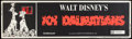 "Movie Posters:Animated, 101 Dalmatians (Buena Vista, R-1972). Banner (24"" X 82"").Animated.. ..."