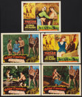 "Movie Posters:Adventure, Tarzan and the Huntress Lot (RKO, 1947). Lobby Cards (5) (11"" X14""). Adventure.. ... (Total: 5 Items)"