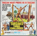 "Movie Posters:Adventure, Tarzan's Three Challenges (MGM, 1963). Six Sheet (81"" X 81"").Adventure.. ..."