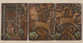 Western:20th Century, TAMMY GARCIA (American, b. 1969). Deer Hunt Triptych. Bronze with patina. 9 x 27-1/2 inches (22.9 x 69.9 cm). Signed low...