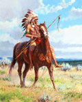Paintings, MARTIN GRELLE (American, b. 1954). Cheyenne Pride, 2006. Oil on canvas. 30 x 24 inches (76.2 x 61.0 cm). Signed and date...