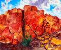 Texas, DONRAY (American, b. 1945). Redrock, 2008. Acrylic on linen.37 x 45 inches (94.0 x 114.3 cm). Signed and dated lower le...