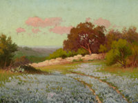 ROBERT WILLIAM WOOD (American, 1889-1979) Spring in the Hill Country Oil on canvas 12 x 16 inches
