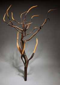 JAMES SURLS (American, b. 1943) From the Heart, 1985 Carved natural wood with charring and incised e