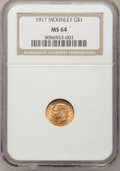 Commemorative Gold, 1917 G$1 McKinley MS64 NGC....