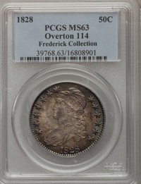 1828 50C Square Base 2, Small 8, Large Letters MS63 PCGS....(PCGS# 6151)