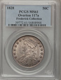Bust Half Dollars, 1828 50C Square Base 2, Small 8, Large Letters MS61 PCGS....