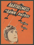 "Movie Posters:War, The Dawn Patrol (First National, 1930). Herald (Folded Out 6"" X8.75""). War.. ..."