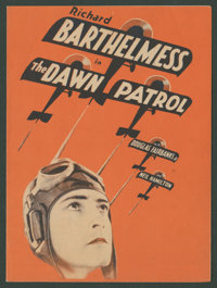 """The Dawn Patrol (First National, 1930). Herald (Folded Out 6"""" X 8.75""""). War"""